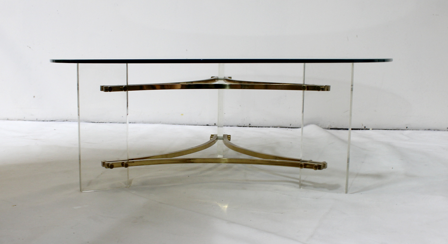 Favorite Acrylic & Brushed Brass Coffee Tables In Mid Century Brushed Brass And Acrylic Coffee Tablecharles Hollis (View 9 of 20)