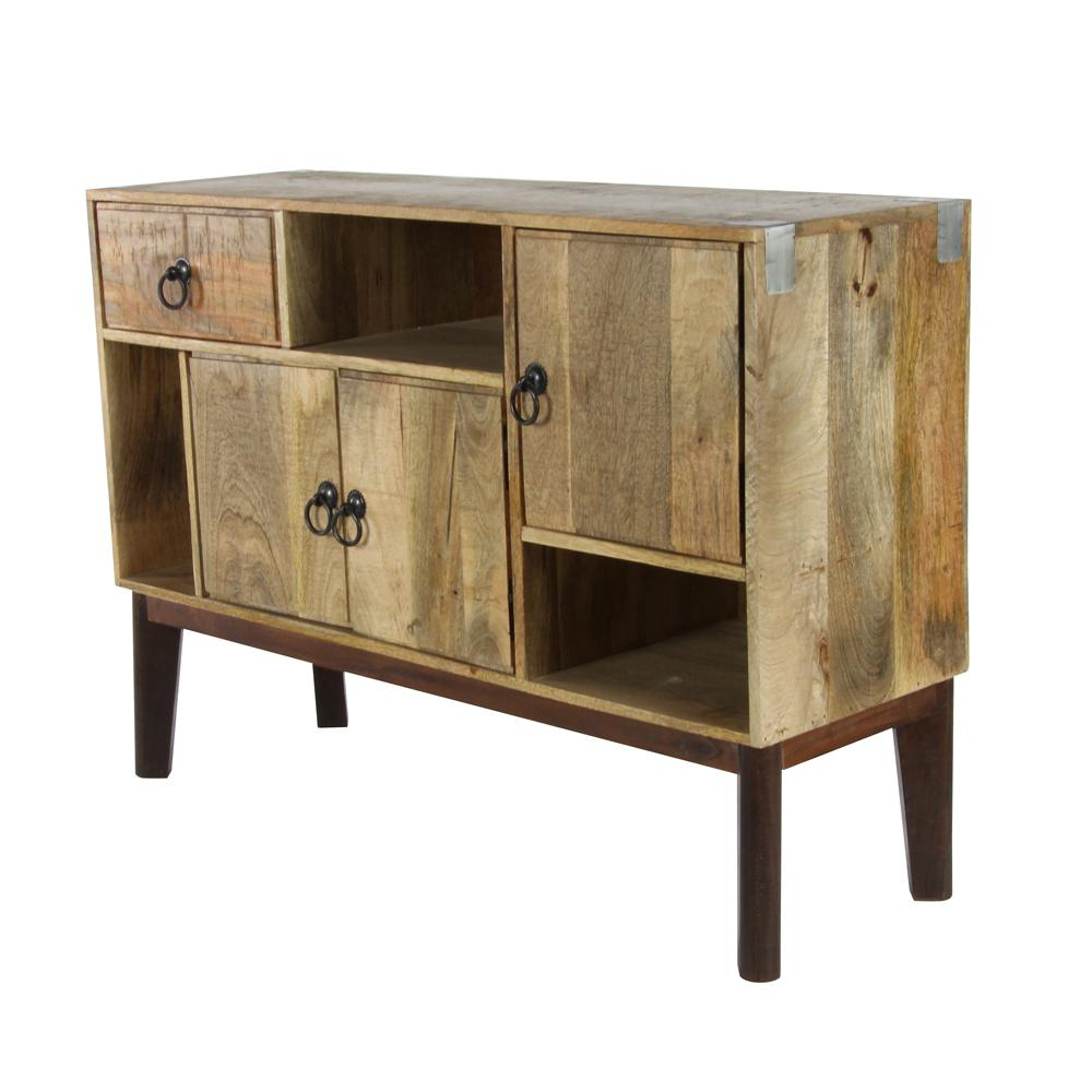 Favorite Brown Chevron 4 Door Sideboards Pertaining To Litton Lane 41 In. X 29 In (View 9 of 20)