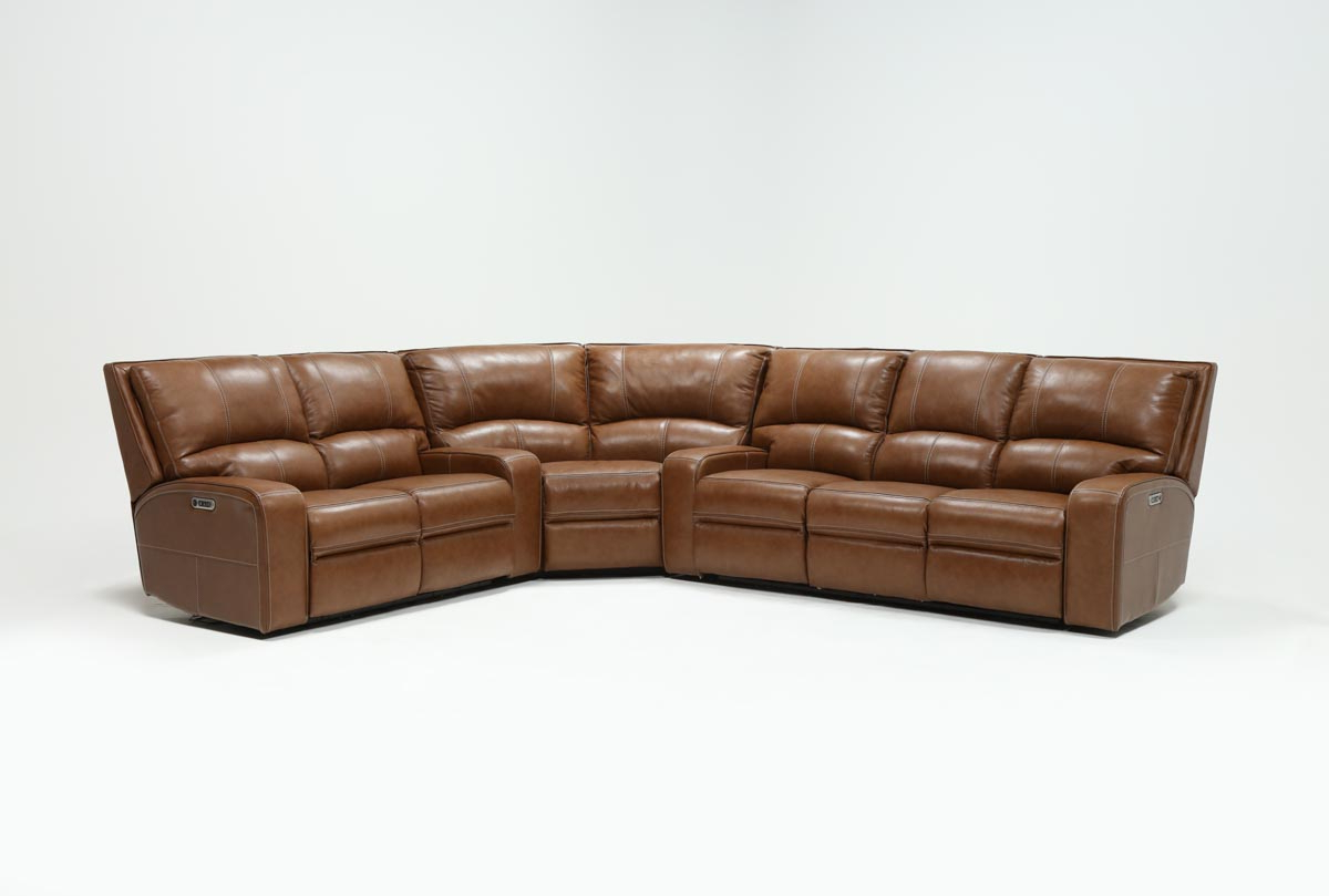 Favorite Clyde Saddle 3 Piece Power Reclining Sectional W/power Hdrst & Usb Inside Clyde Saddle 3 Piece Power Reclining Sectionals With Power Headrest & Usb (Gallery 1 of 20)