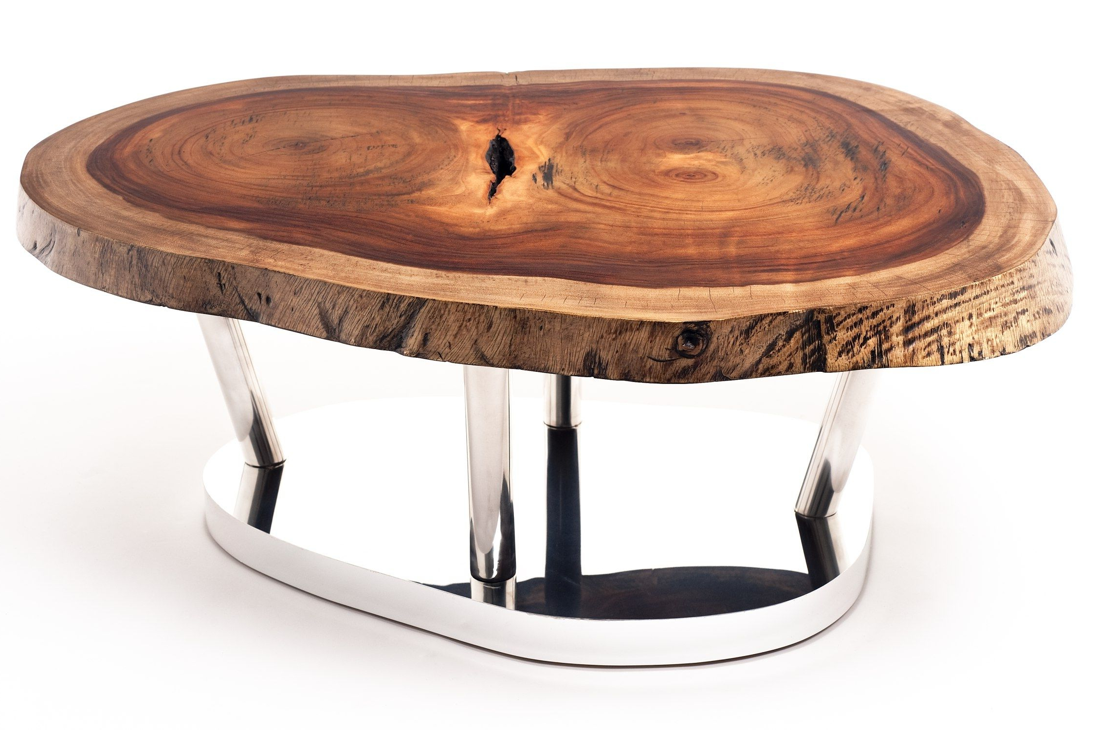 Favorite Contemporary Coffee Table / Wooden / In Reclaimed Material In Sliced Trunk Coffee Tables (View 6 of 20)