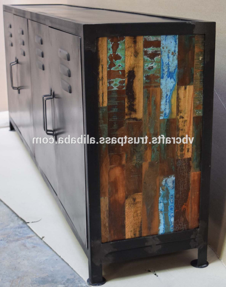 Favorite Corrugated Metal Sideboards Pertaining To Vintage Industrial Metal Sideboard – Buy Industrial Metal Iron (View 8 of 20)
