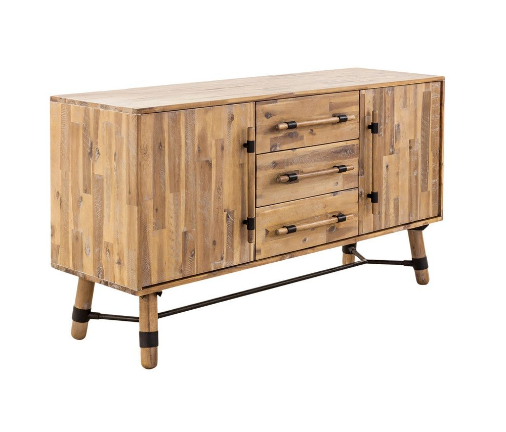 Favorite Corrugated Natural 4 Drawer Sideboards Pertaining To Long Hudson Sideboard (Gallery 1 of 20)