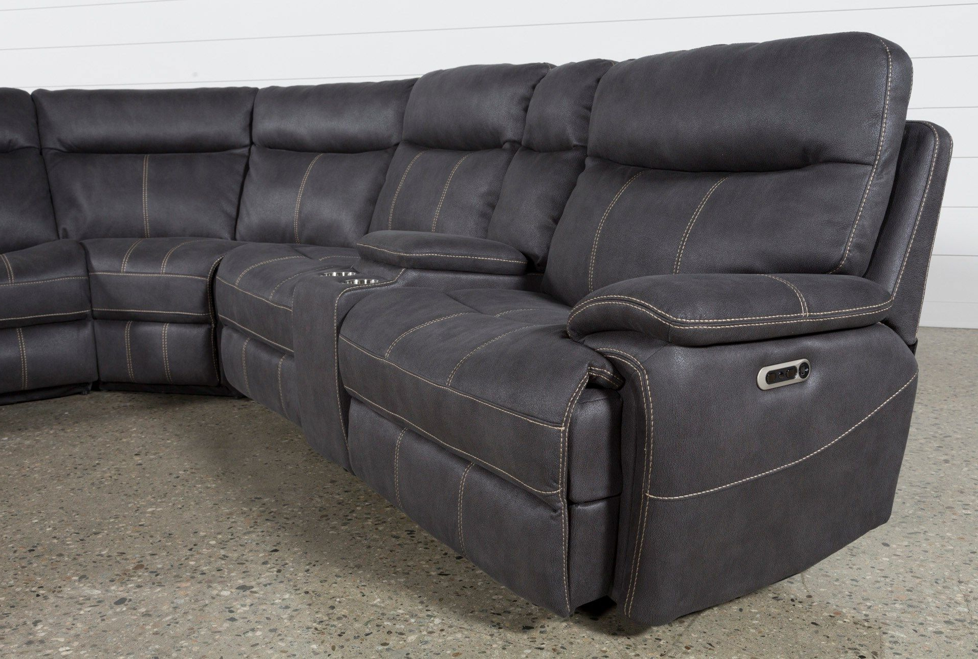 Favorite Denali Charcoal Grey 6 Piece Reclining Sectionals With 2 Power Headrests Regarding Denali Charcoal Grey 6 Piece Reclining Sectional W/2 Power Headrests (View 6 of 20)
