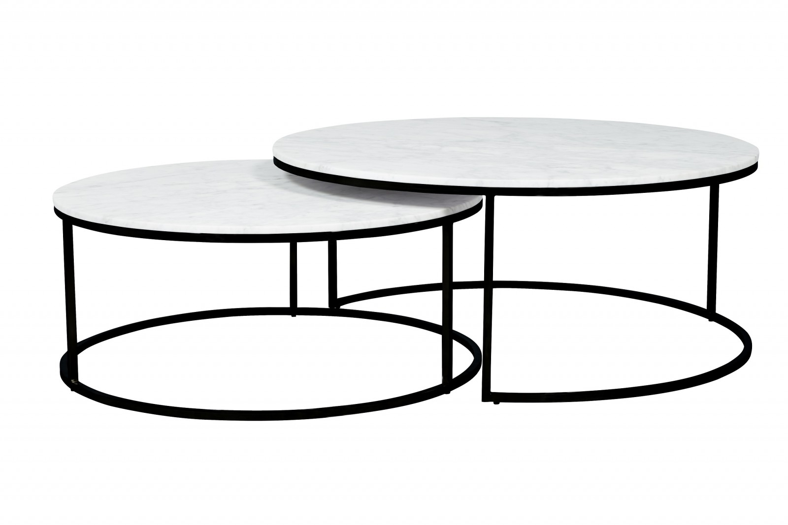 Favorite Elle Round Nest Marble Coffee Table Set (Gallery 1 of 20)