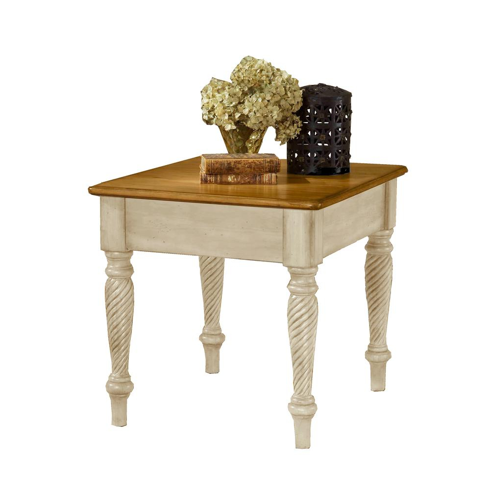 Favorite Hillsdale Furniture Wilshire Antique White End Table 4508 882 – The For Wilshire Cocktail Tables (View 12 of 20)