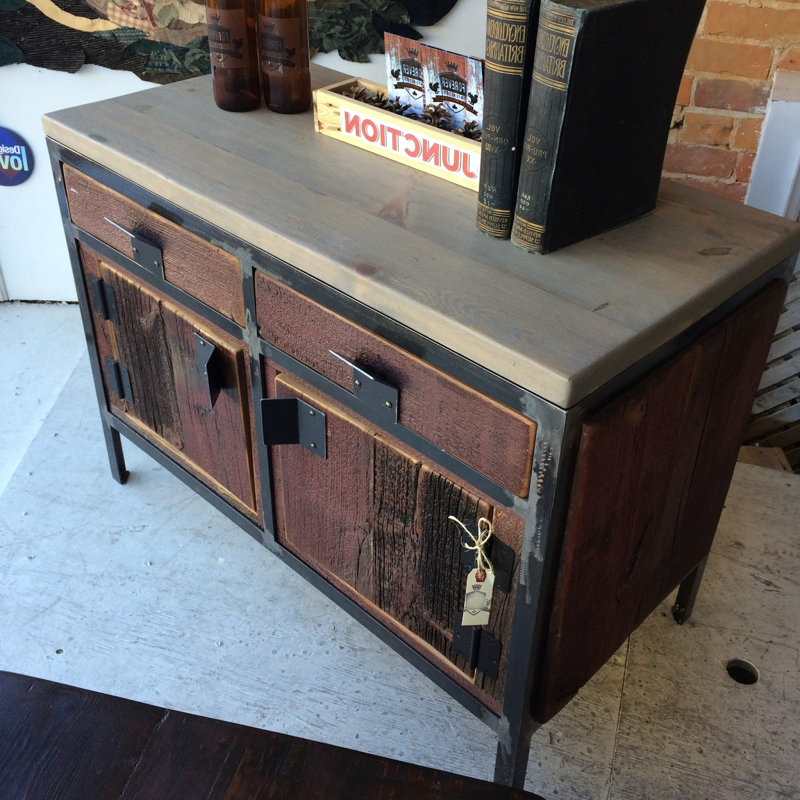 Favorite Metal Framed Reclaimed Wood Sideboards Pertaining To Reclaimed Windows, Doors, And Antique Ceiling Tiles (View 6 of 20)