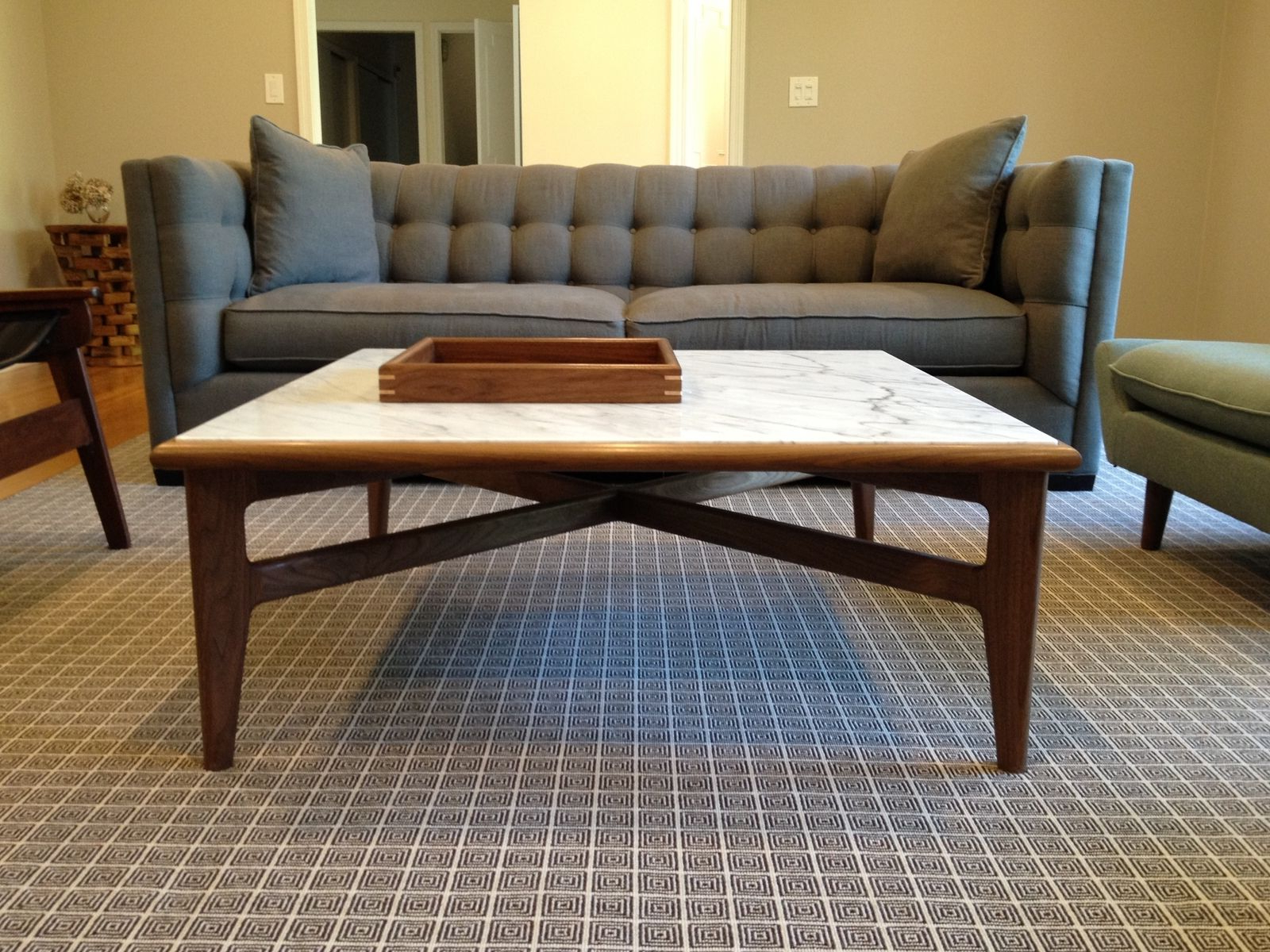 Favorite Mid Century Modern Marble Coffee Tables In Custom Emerson Mid Century Modern Cocktail Table Base For Marble Or (View 16 of 20)