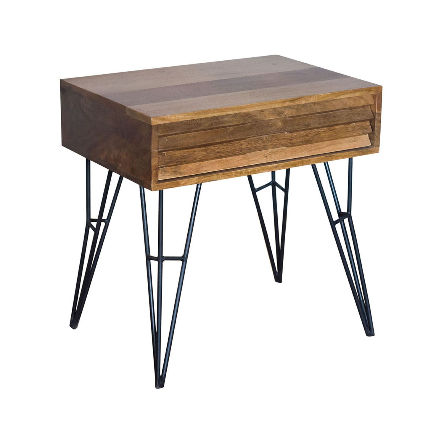 Favorite Natural 2 Drawer Shutter Coffee Tables Intended For Shutter 1 Drawer Nightstand/iron & Mango Wood/natural Finish/23* (View 6 of 20)