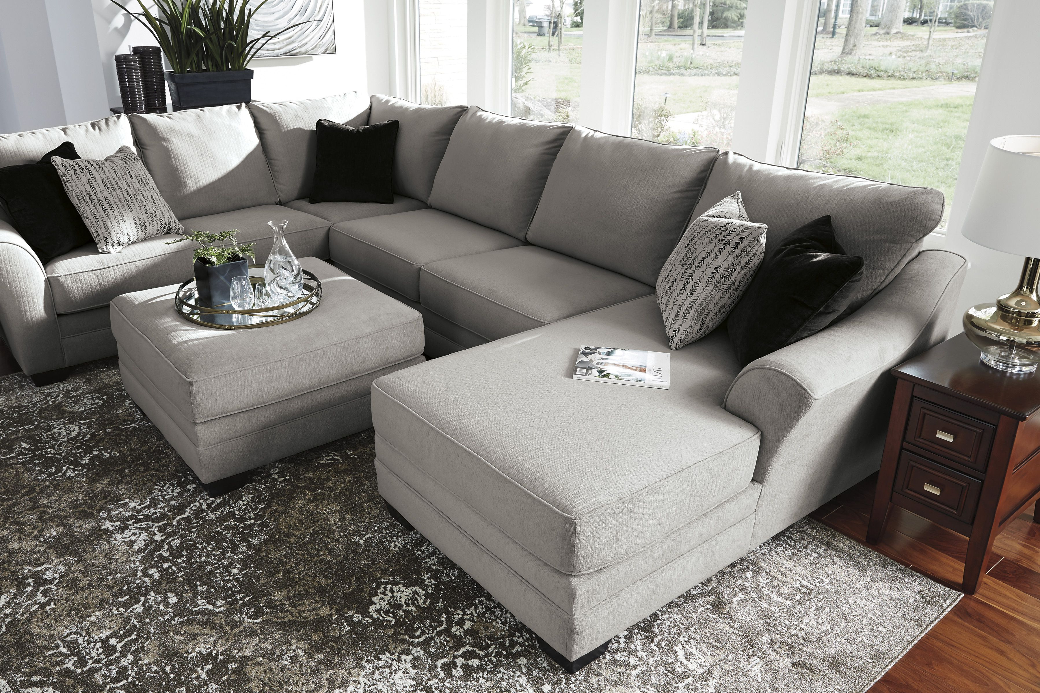 Favorite Norfolk Grey 3 Piece Sectionals With Raf Chaise With Regard To Palempor 3 Piece Laf Sectional In  (View 6 of 20)