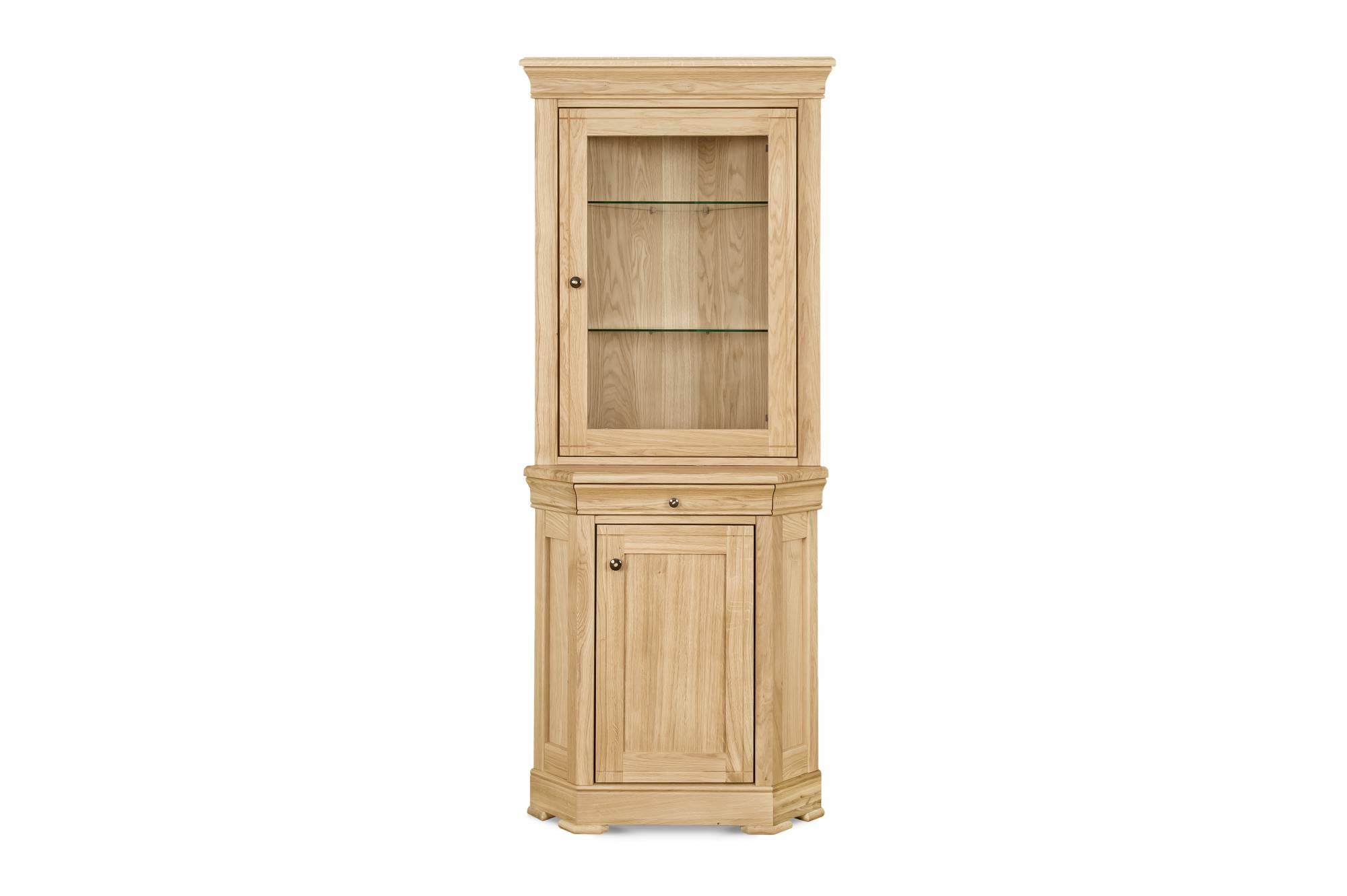 Favorite Oil Pale Finish 4 Door Sideboards With Moreno Oak Corner Display Cabinetclemence Richards At Lukehurst (View 20 of 20)