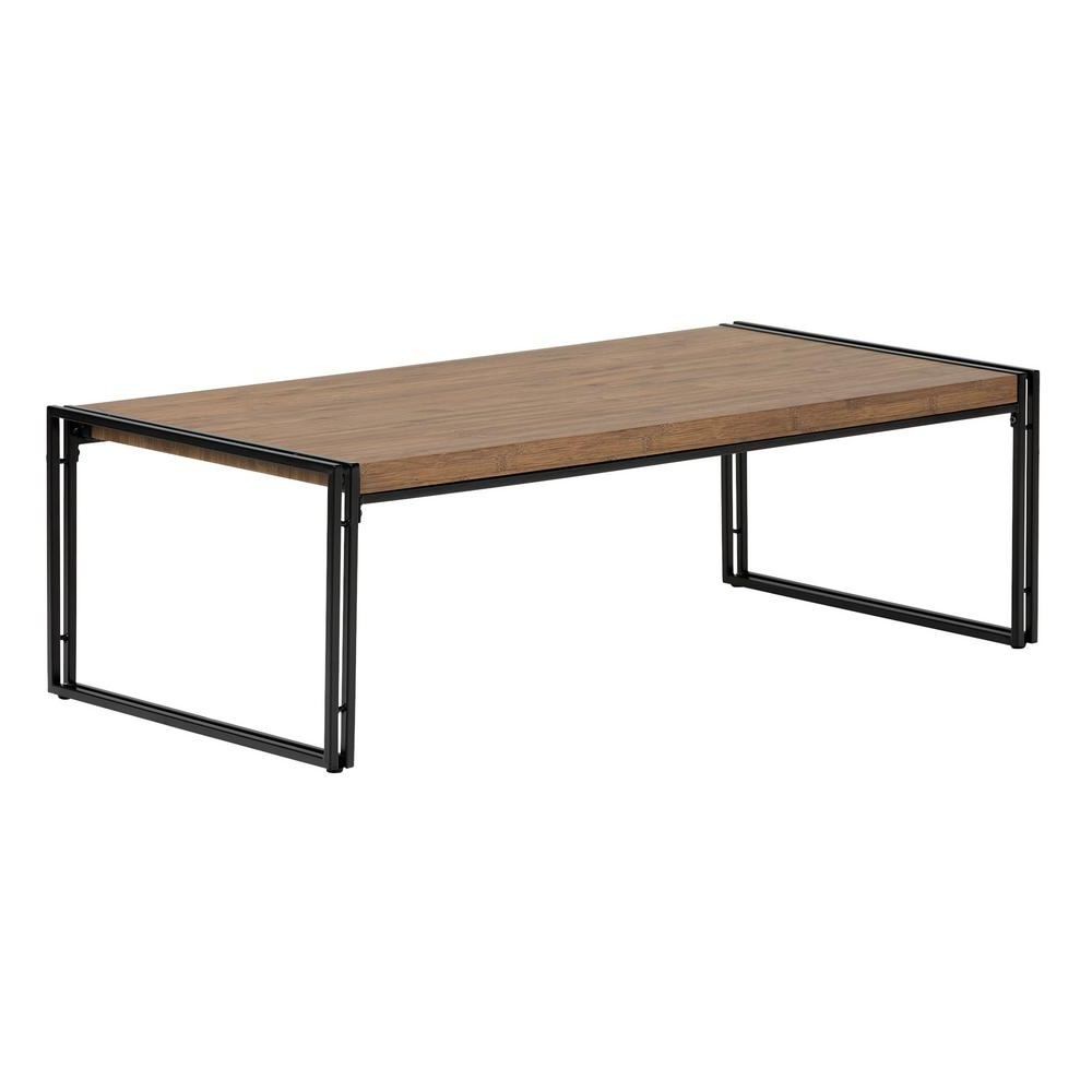 Favorite Shelter Cocktail Tables Within South Shore Gimetri Rustic Bamboo Coffee Table 11520 – The Home Depot (View 5 of 20)
