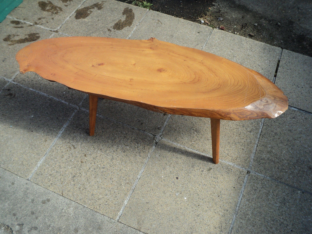 Favorite Sliced Trunk Coffee Tables Regarding Vintage, Quirky Retro Tree Trunk Slice, With Bark Edge Coffee Table (View 7 of 20)