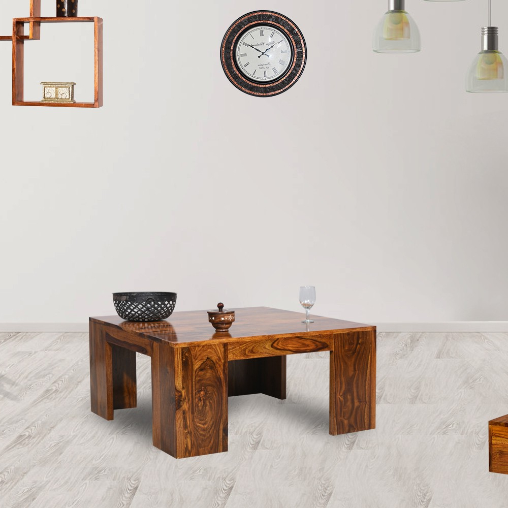 Favorite Stalwart Wooden Center Table With Naveen Coffee Tables (View 4 of 20)