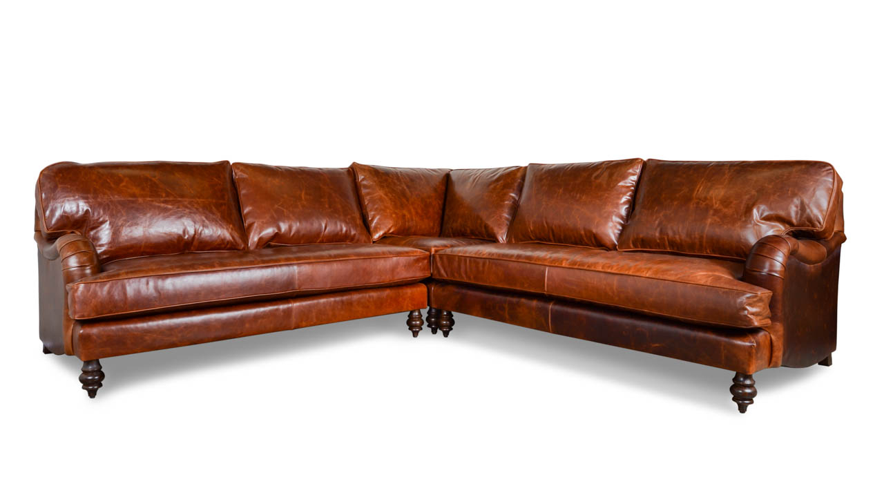 Favorite Tenny Cognac 2 Piece Left Facing Chaise Sectionals With 2 Headrest Within Cognac Leather Sectional – Tidex (View 10 of 20)