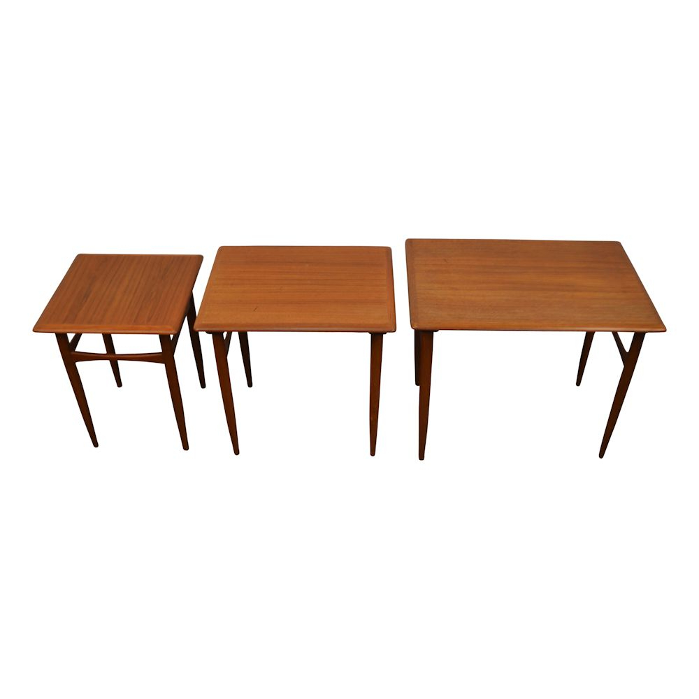 Favorite Vintage Danish Design Set Of 3 Side Tableskai Kristiansen Regarding Kai Small Coffee Tables (Gallery 11 of 20)