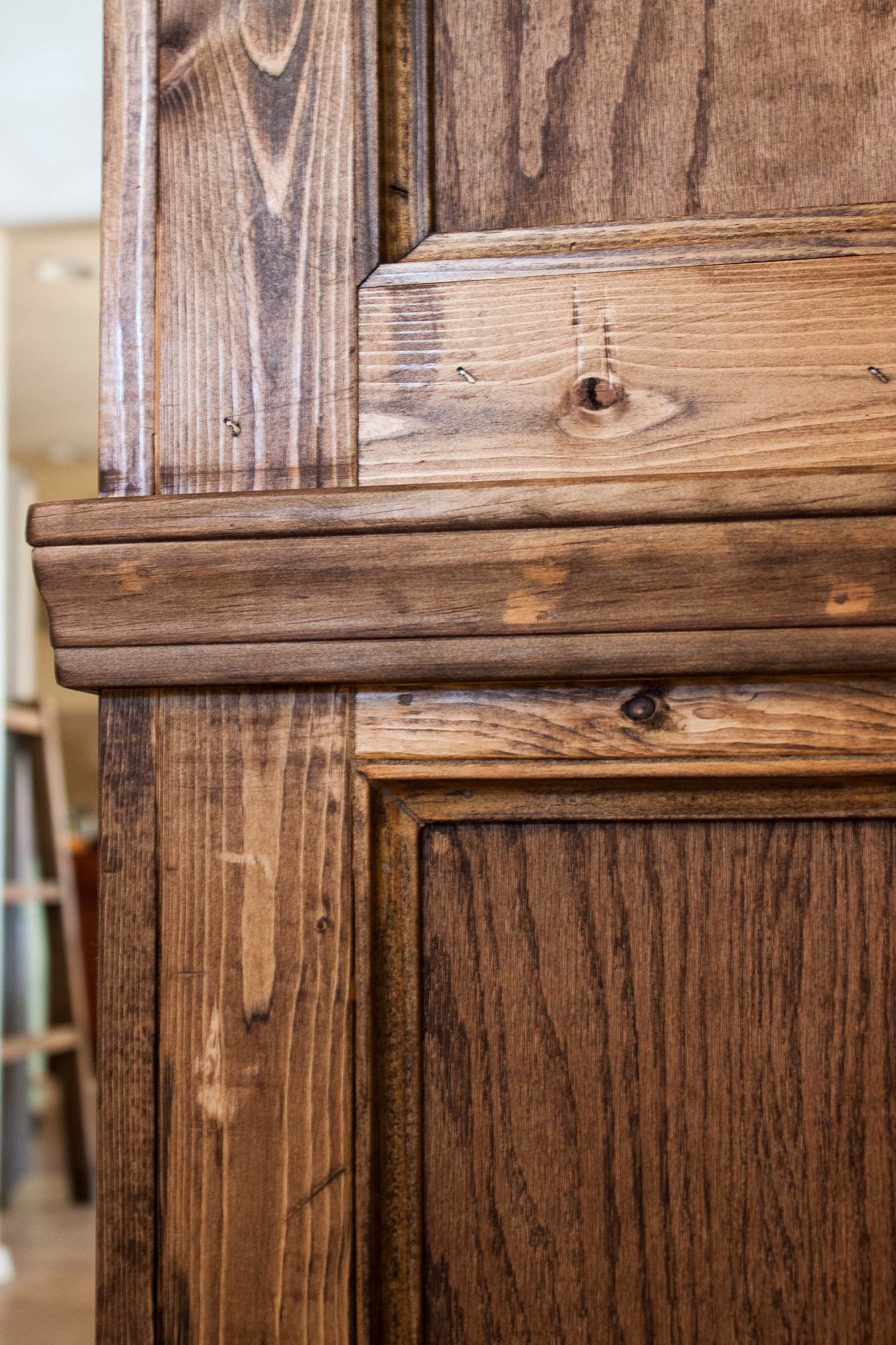 Favorite Walnut Finish Crown Moulding Sideboards Within Ana White (View 5 of 20)