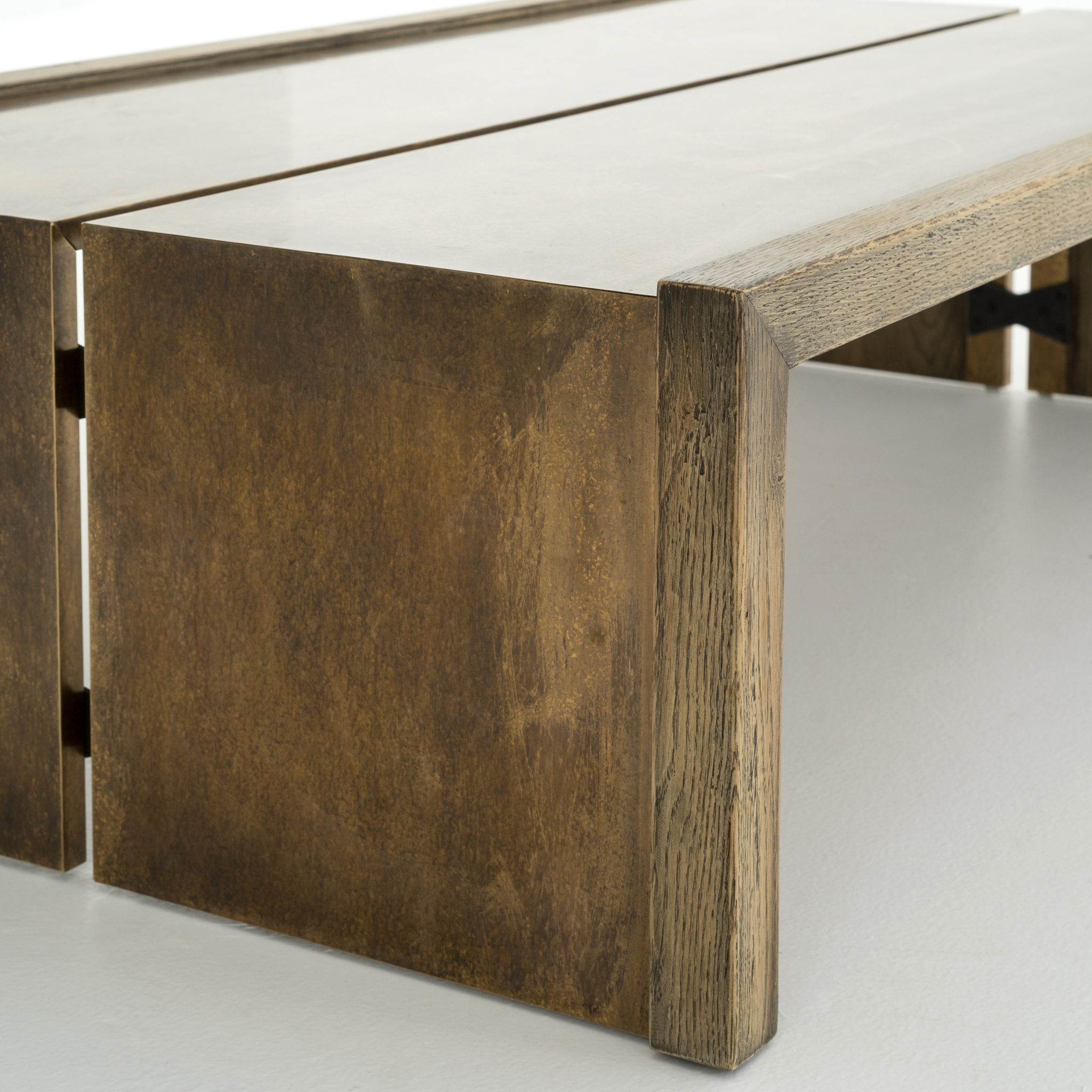 Favorite Weaver Dark Rectangle Cocktail Tables Intended For Weaver Coffee Table Antique Brass – Boulevard Urban Living (View 12 of 20)