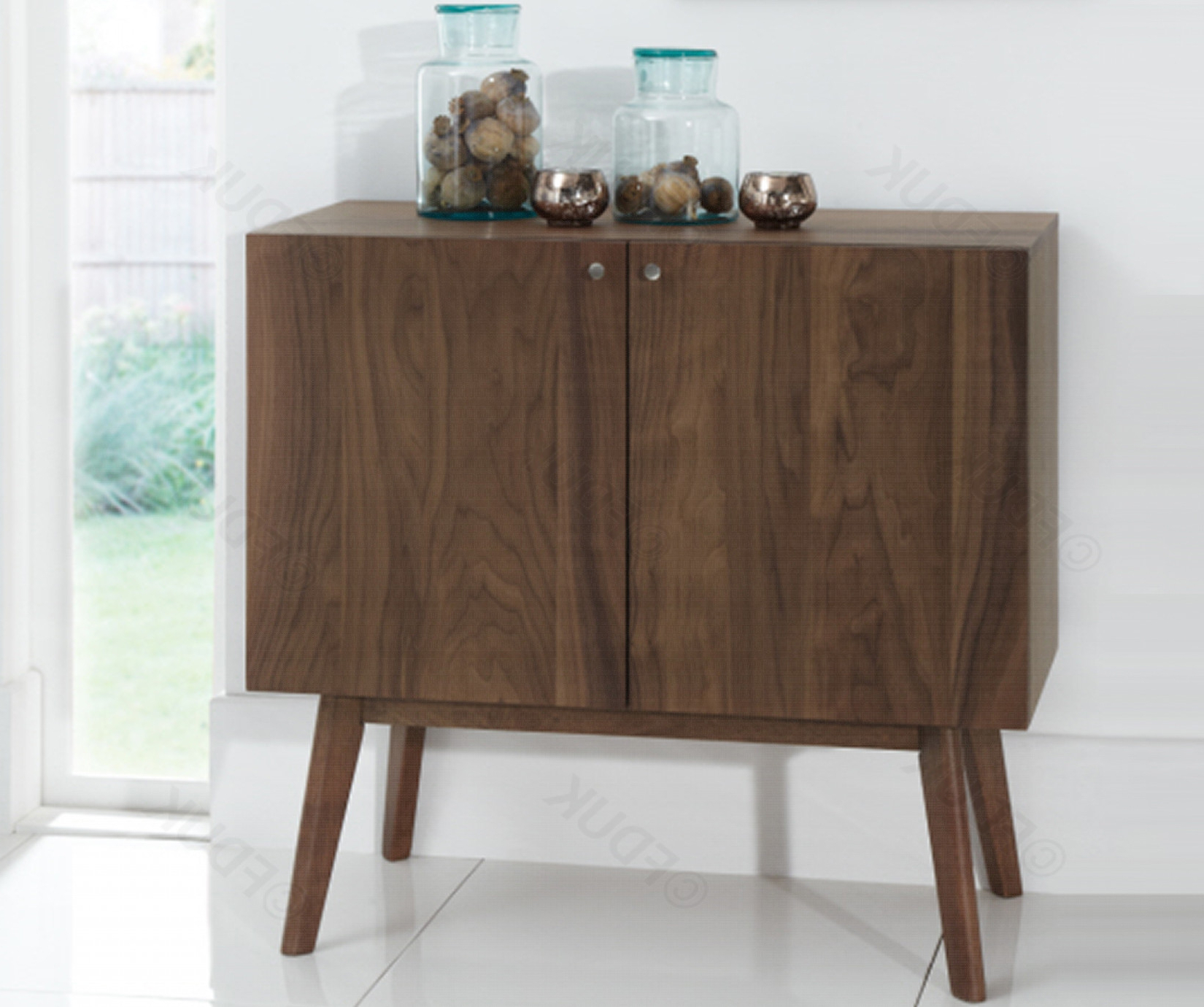 Finchley Walnut Small Sideboard (Gallery 1 of 20)