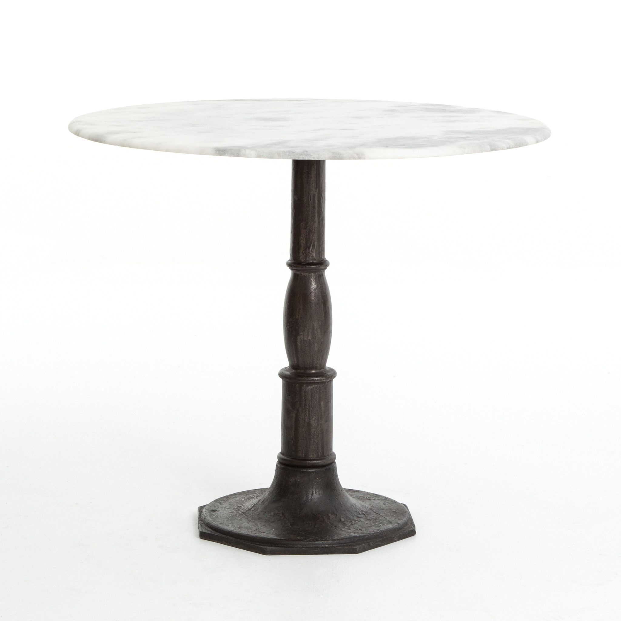Flat Black And Cobre Coffee Tables Intended For Latest Donahue Bistro Table Carbon Wash (View 15 of 20)