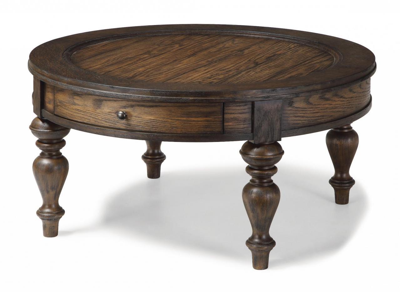 Flexsteel® Bordeaux Round Coffee Table W1424  (View 10 of 20)