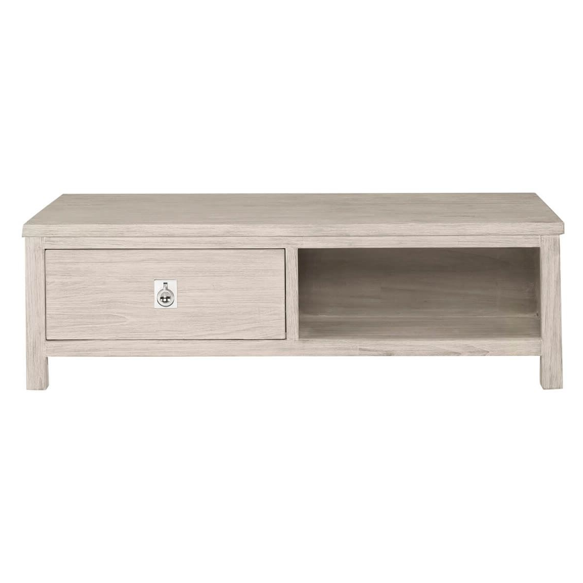 Freedom Inside 2019 White Wash 2 Drawer/1 Door Coffee Tables (View 8 of 20)