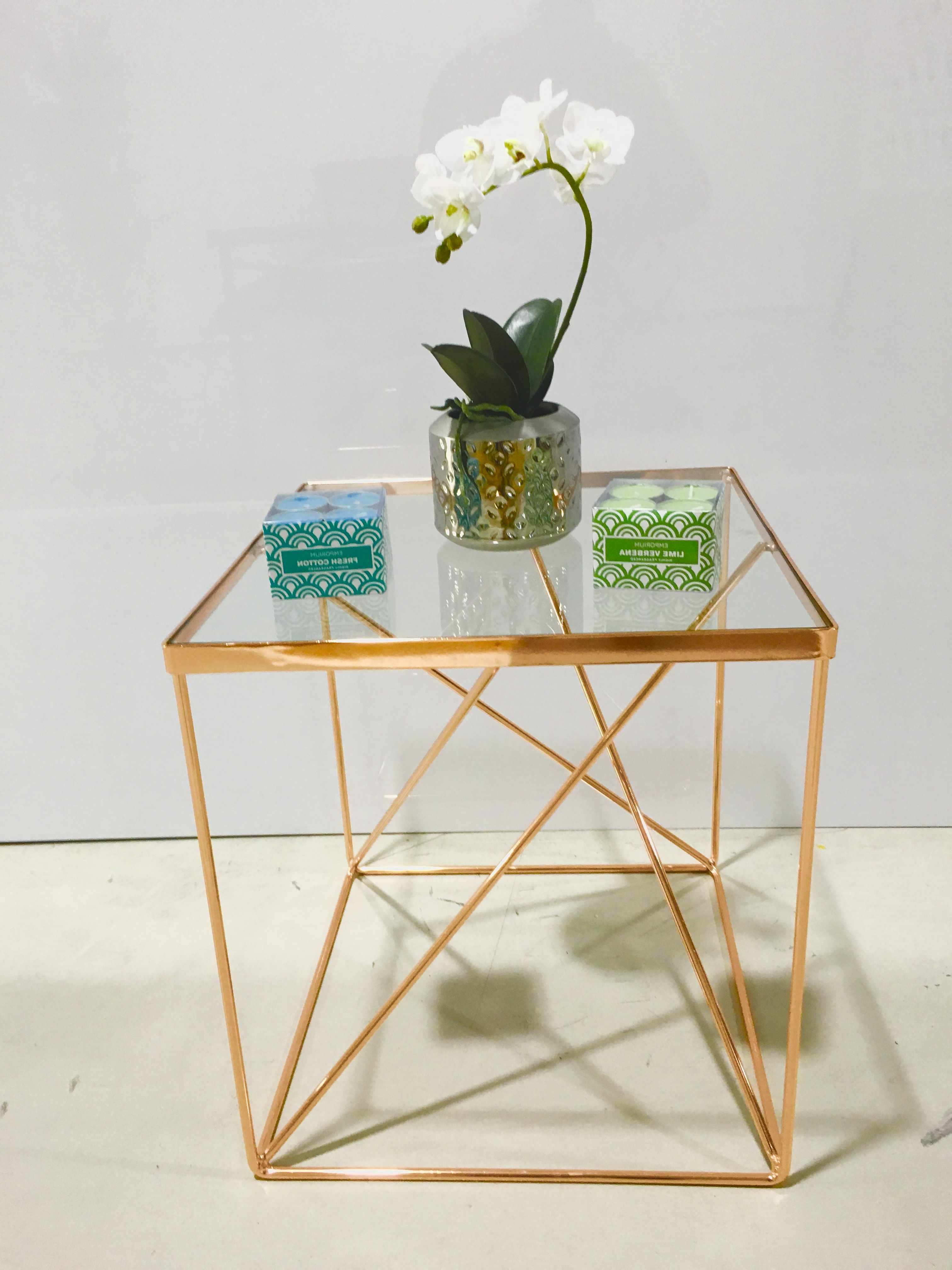 Fresh Cut Side Tables With 2019 Here Is Our Stylish Tribeca Side Table In A Beautiful Copper Colour (View 3 of 20)