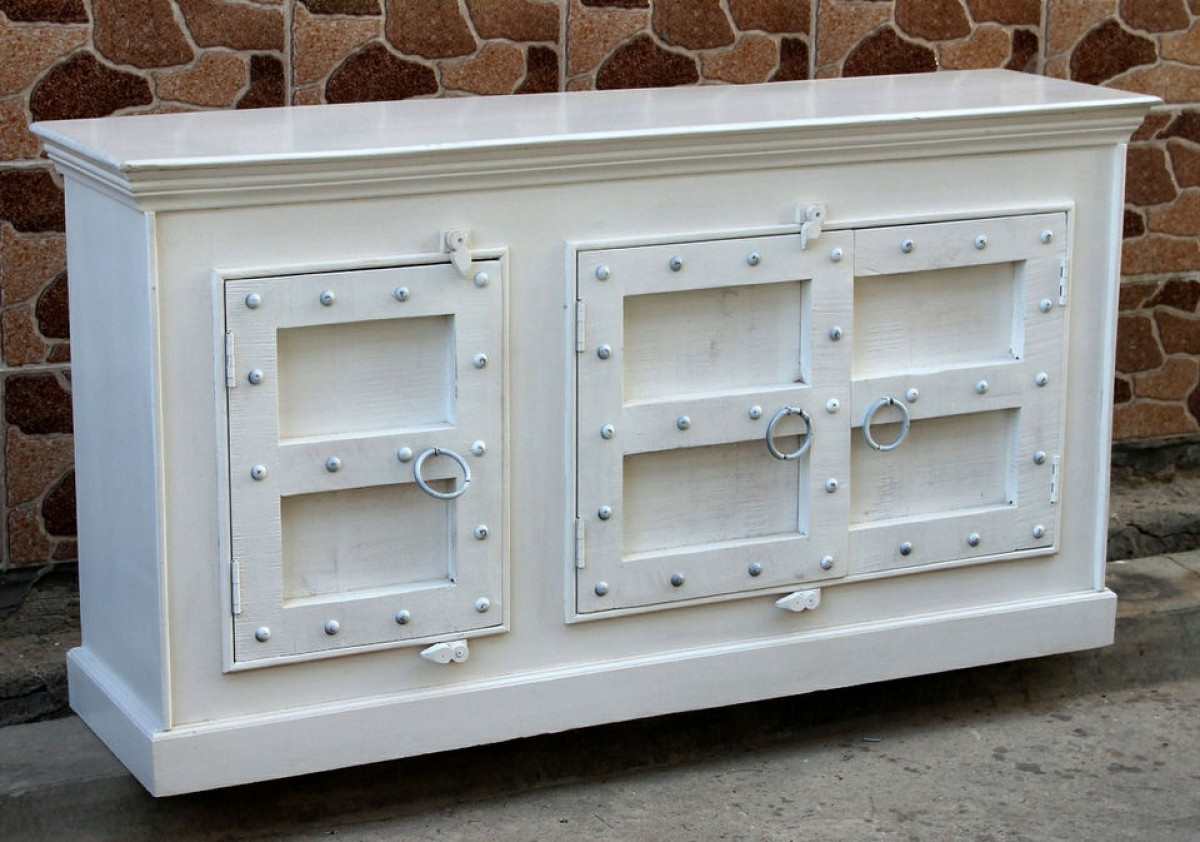 Featured Photo of White Wash Carved Door Jumbo Sideboards