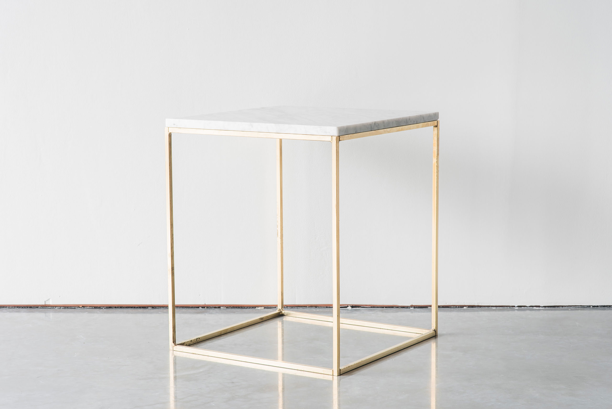 Furniture Designed & Handcrafted In New Zealand. ©2016 Inside Brass Iron Cube Tables (Gallery 4 of 20)