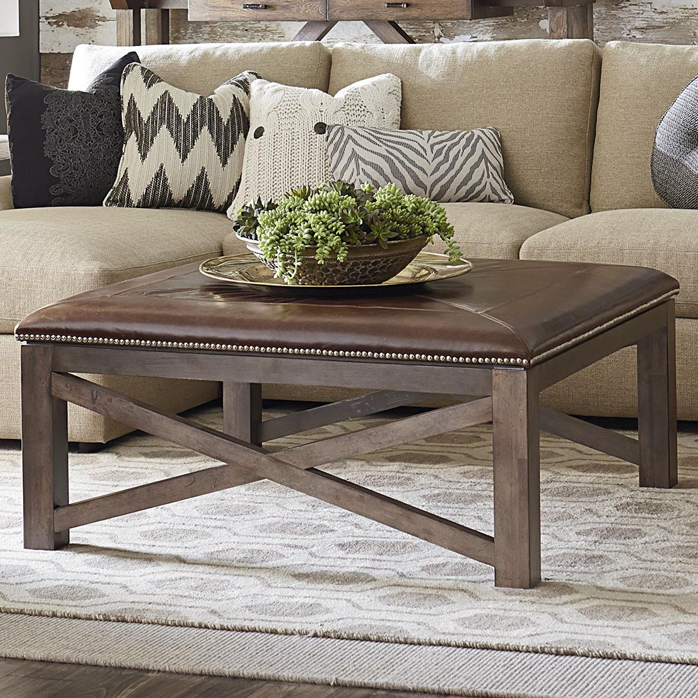 Furniture: Elegant Living Room Coffee Table Ideas With Square With Regard To Well Known Mill Large Leather Coffee Tables (View 9 of 20)
