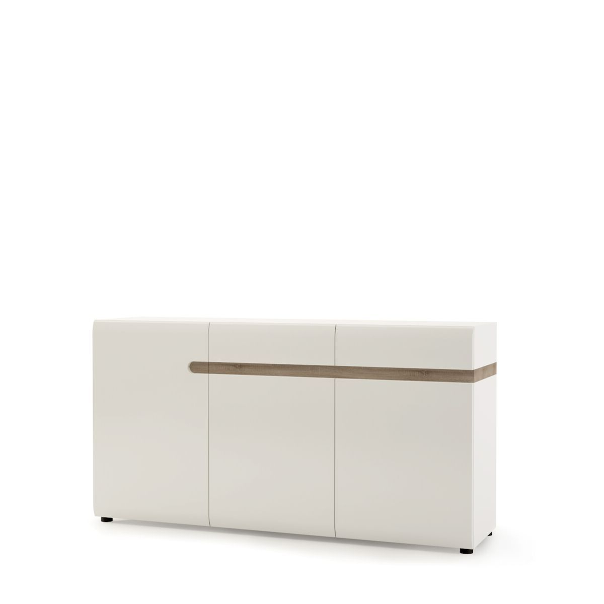 Furniture To Go Chelsea Living 2 Drawer 3 Door Sideboard In White In Trendy Burn Tan Finish 2 Door Sideboards (View 9 of 20)