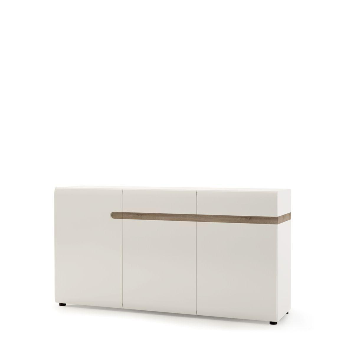 Furniture To Go Chelsea Living 2 Drawer 3 Door Sideboard In White In Trendy Burn Tan Finish 2 Door Sideboards (View 10 of 20)
