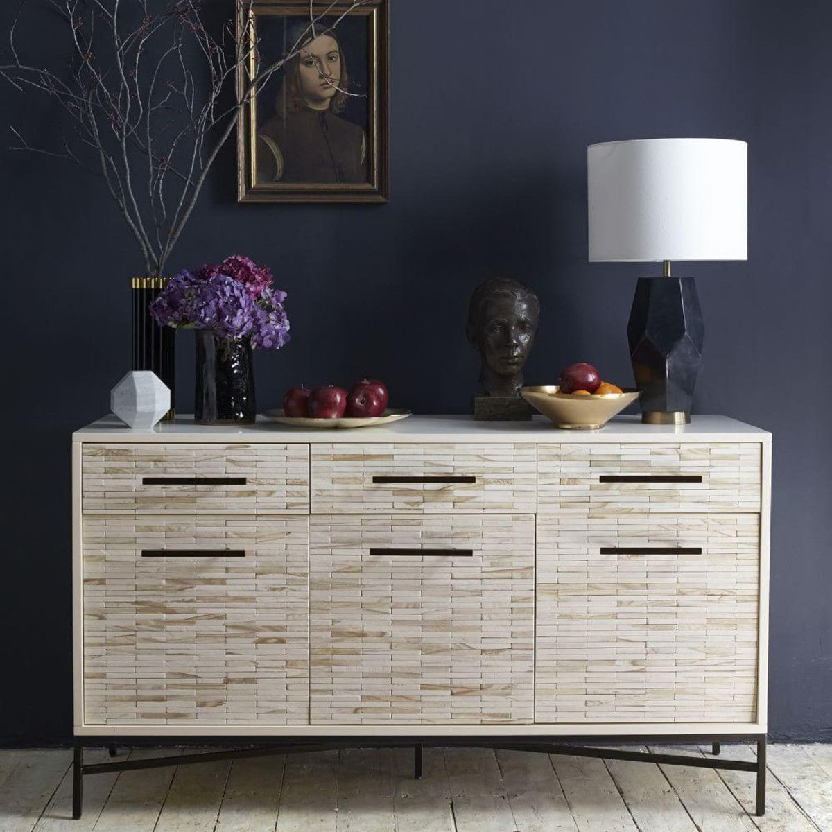 Geo Capiz Sideboards With Regard To Well Known Wood Tiled Buffet (View 8 of 20)