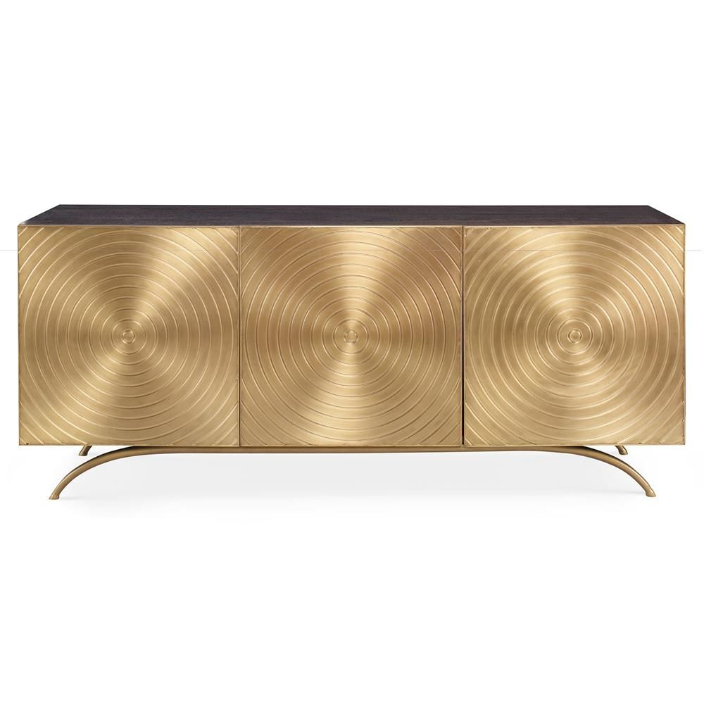 Geo Capiz Sideboards Within Best And Newest Mr. Brown Claudio Modern Regency Gold Sideboard Cabinet In 2018 (Gallery 10 of 20)