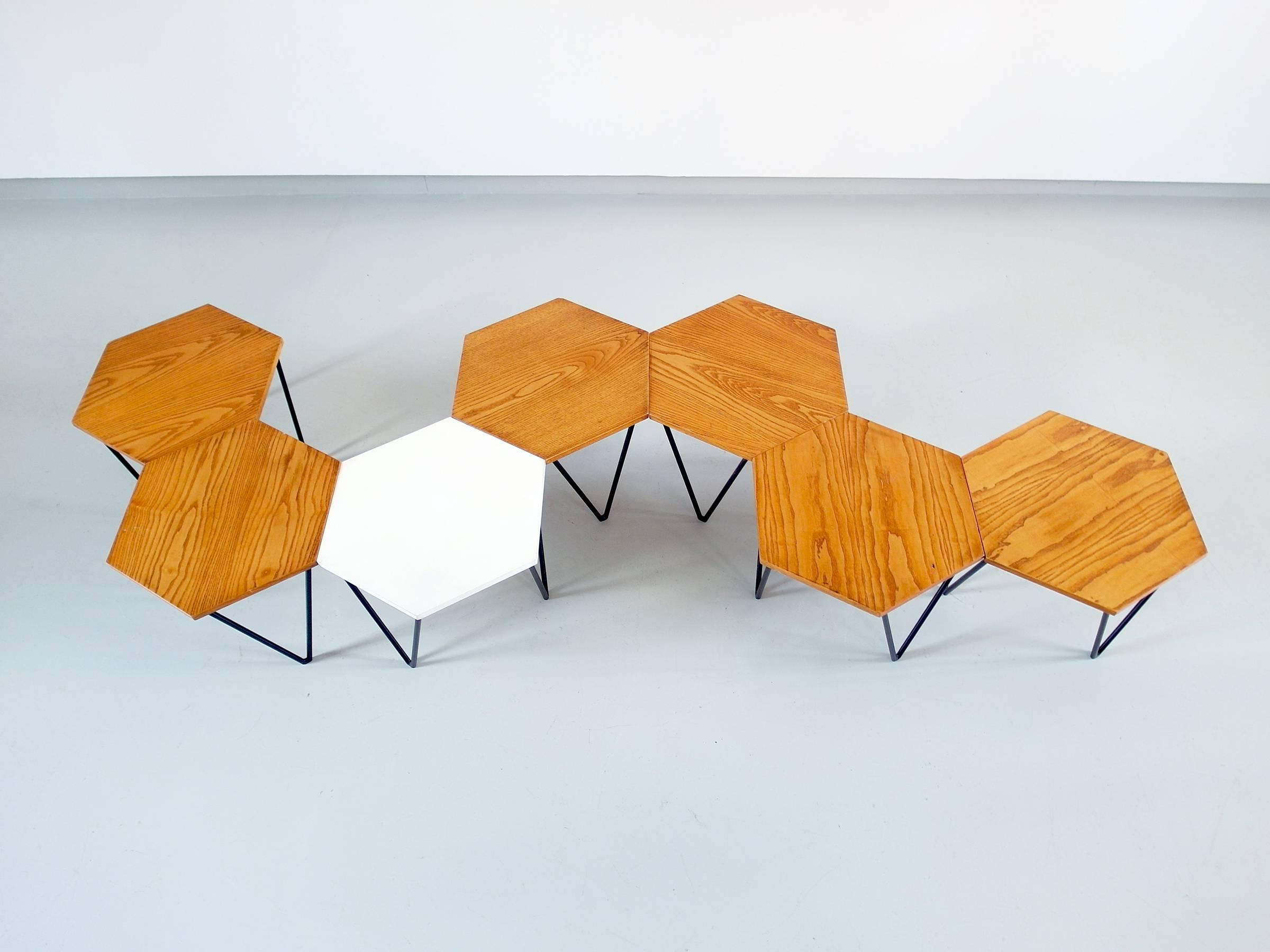 Gio Ponti Set Of Seven Modular Coffee Tables For I.s.a (View 8 of 20)