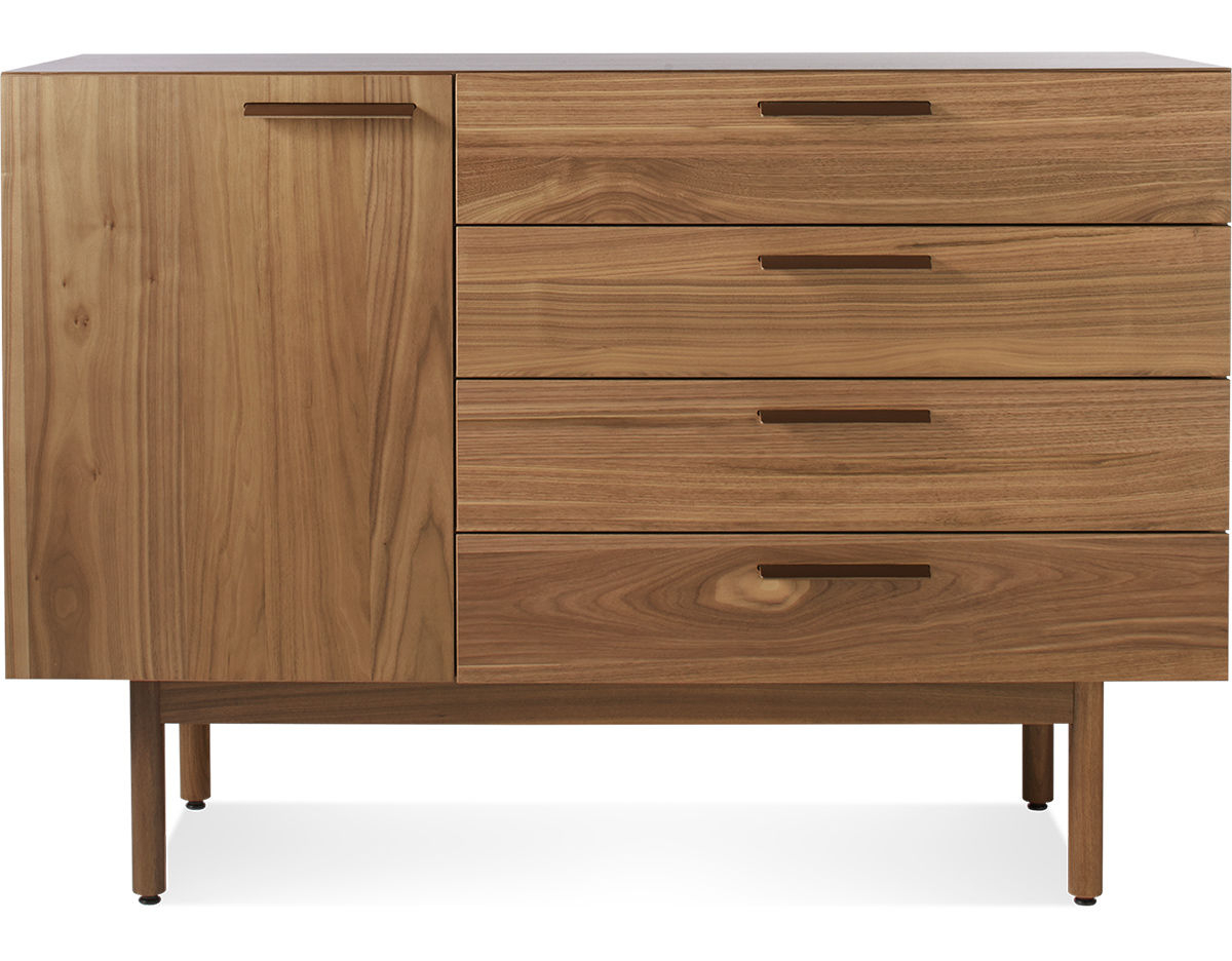 Girard 4 Door Sideboards Within Newest Shale 4 Drawer / 1 Door Credenza – Hivemodern (View 16 of 20)