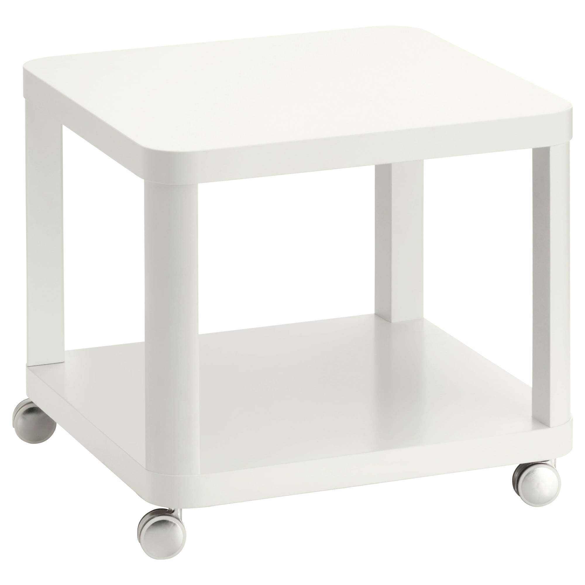 Go Cart White Rolling Coffee Tables Throughout Best And Newest Tingby Side Table On Casters – White – Ikea (View 14 of 20)