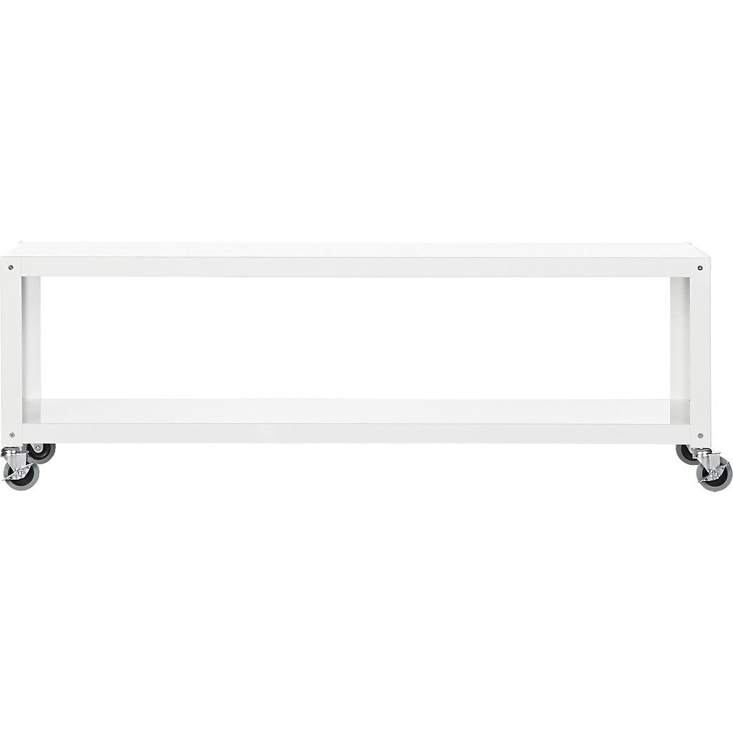 Go Cart White Rolling Media Console (View 3 of 20)