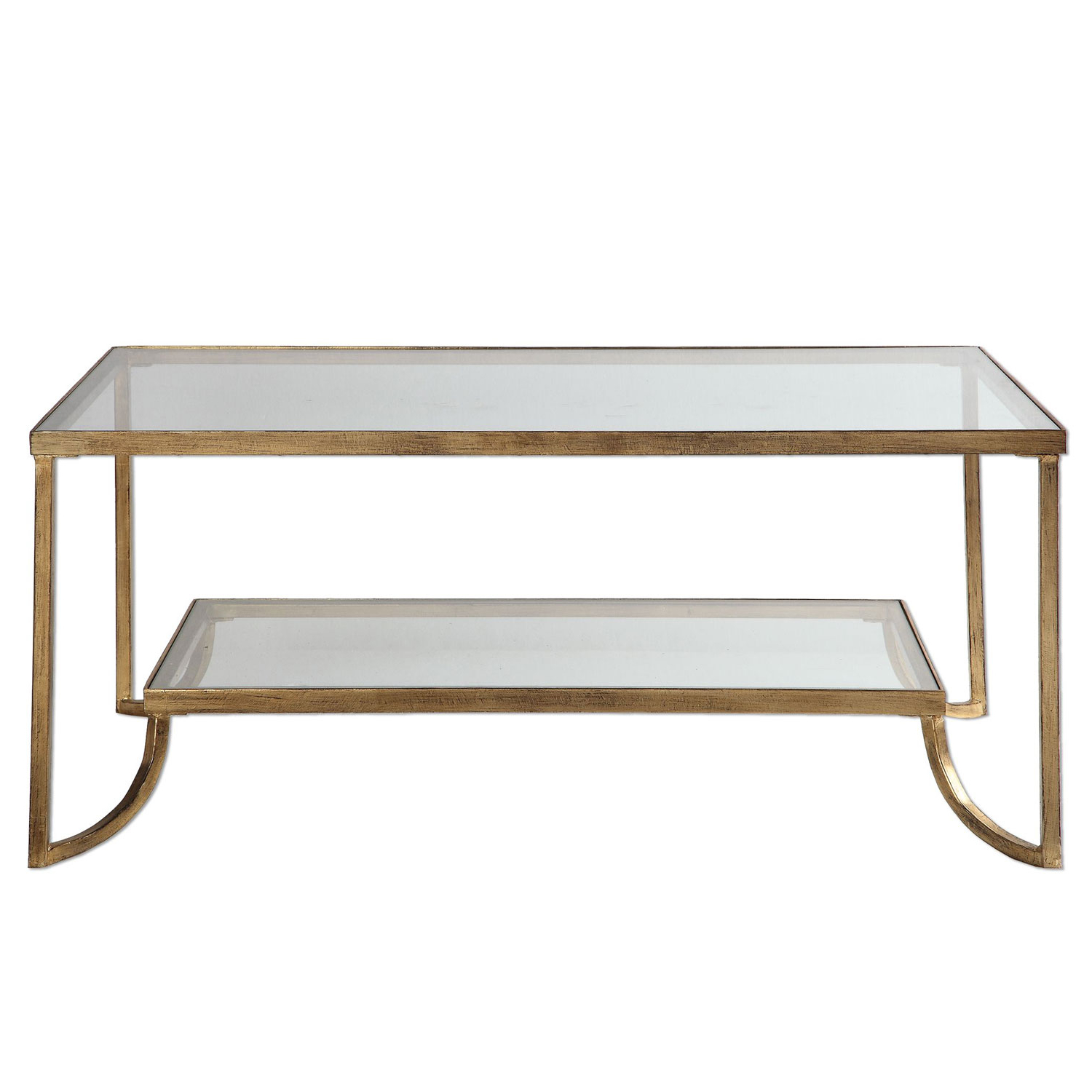 Gold Leaf Collection Coffee Tables Within 2019 Uttermost Katina Gold Leaf Coffee Table 24540 (Gallery 1 of 20)