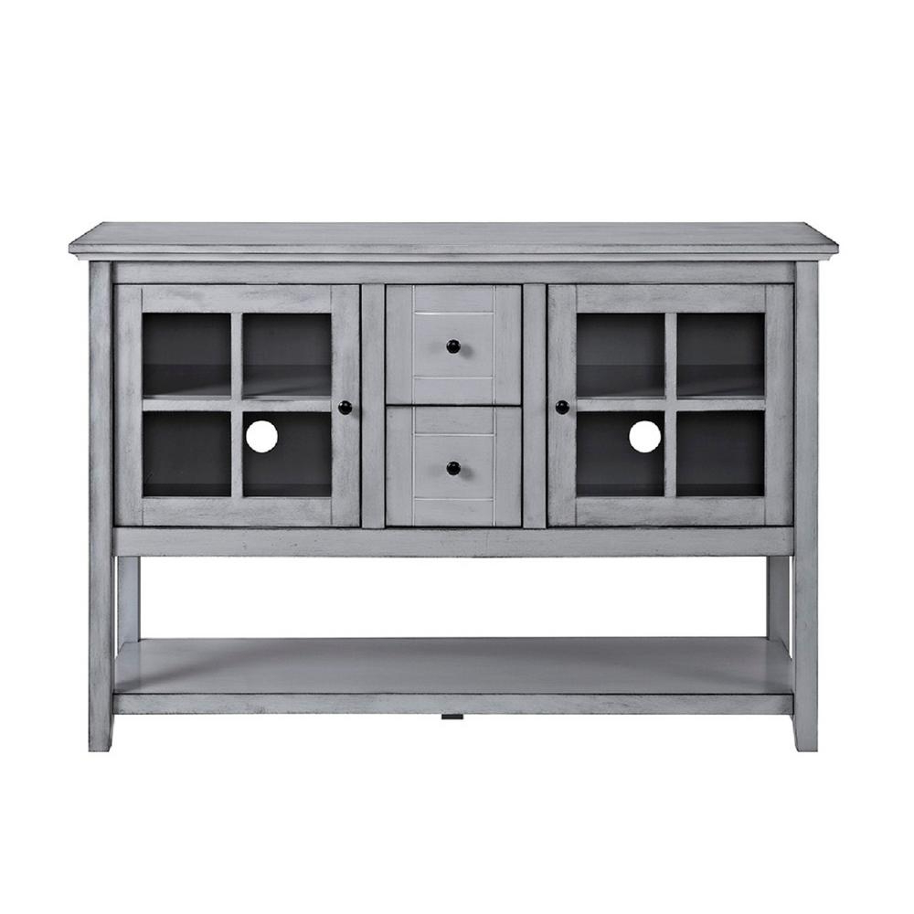 Gray – Sideboards & Buffets – Kitchen & Dining Room Furniture – The Intended For Favorite 4 Door 3 Drawer White Wash Sideboards (Gallery 18 of 20)