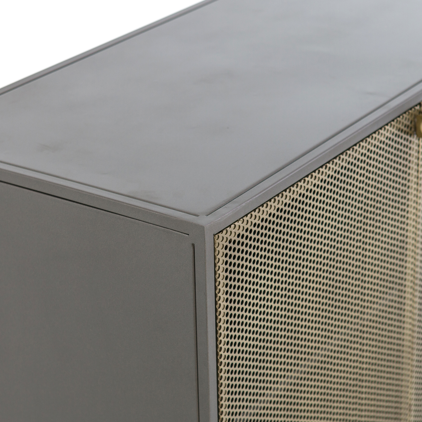 Gunmetal Perforated Brass Sideboards Pertaining To Most Recent Louis Sideboard (View 9 of 20)