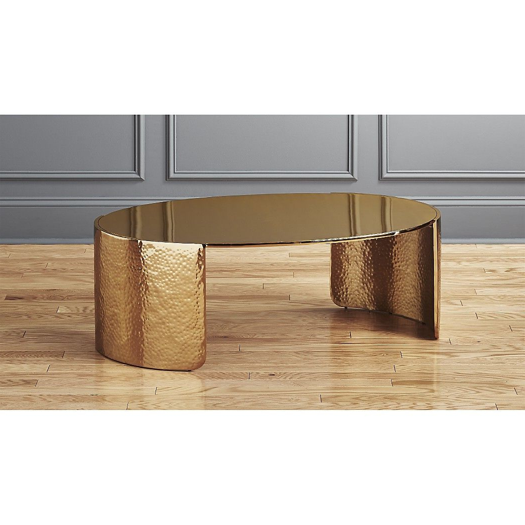 Hammered Gold, Coffee Regarding Cuff Hammered Gold Coffee Tables (View 2 of 20)
