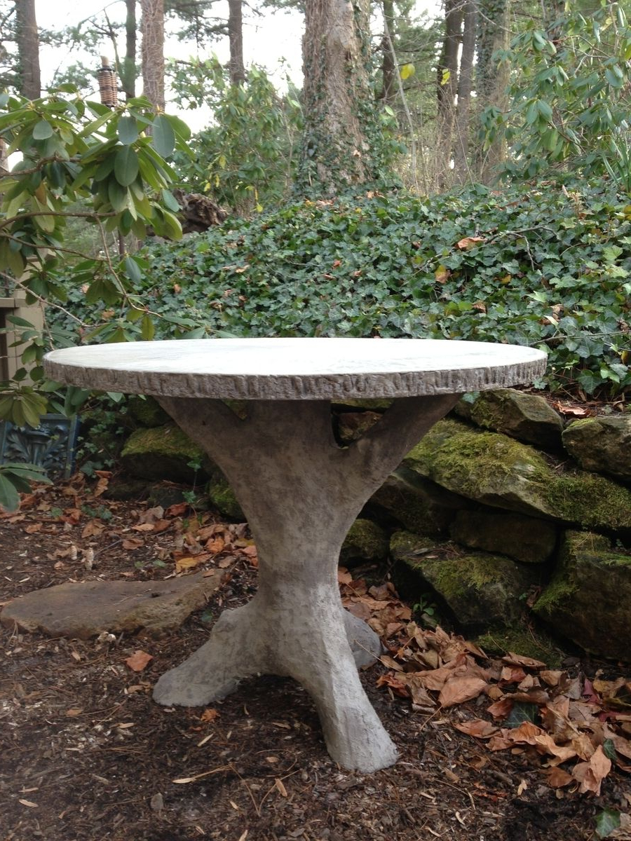 Hand Crafted Concrete Faux Bois Garden Table910 Castings Within Most Current Faux Bois Coffee Tables (View 16 of 20)
