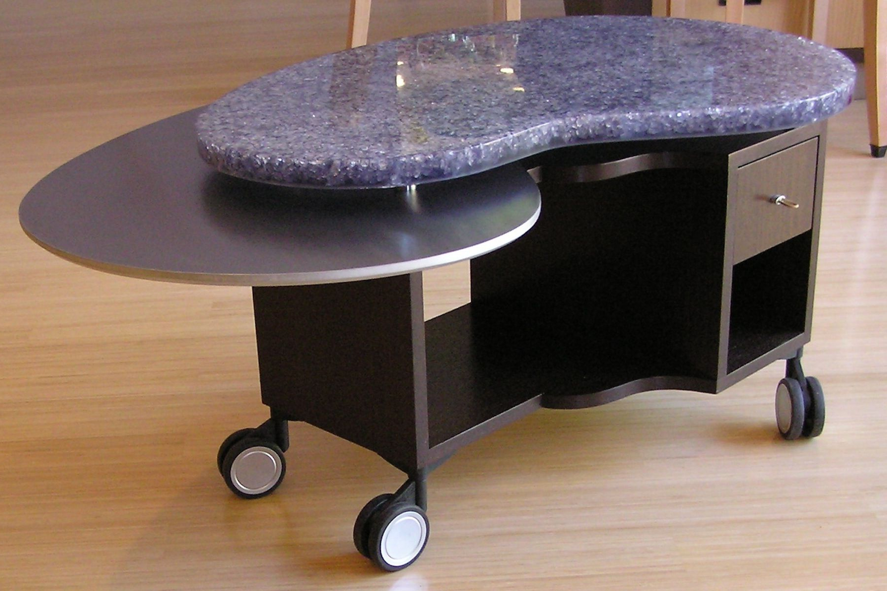 Hand Crafted Rolling Jelly Beanlaurabirnsdesign Eco Furnishings Regarding 2018 Jelly Bean Coffee Tables (View 5 of 20)