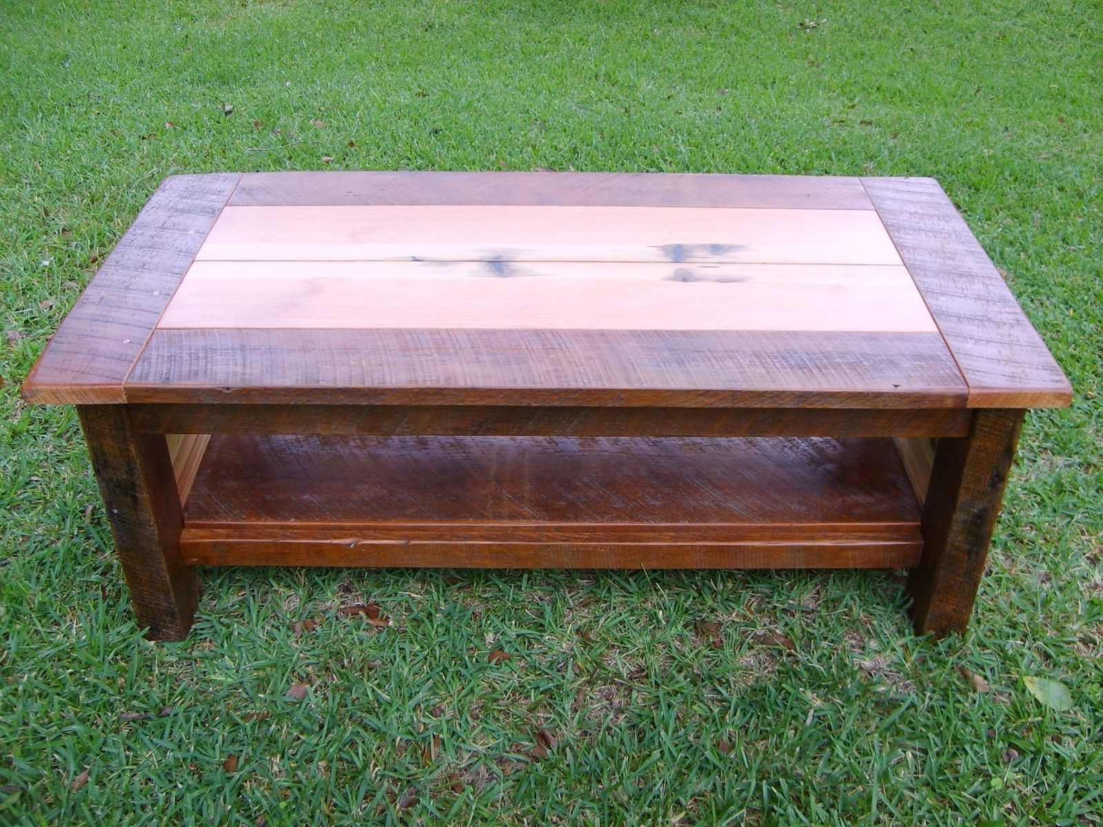 Hand Made Reclaimed Heart Pine Coffee Tablenorm's Custom Intended For Fashionable Antique Pine Coffee Tables (View 7 of 20)