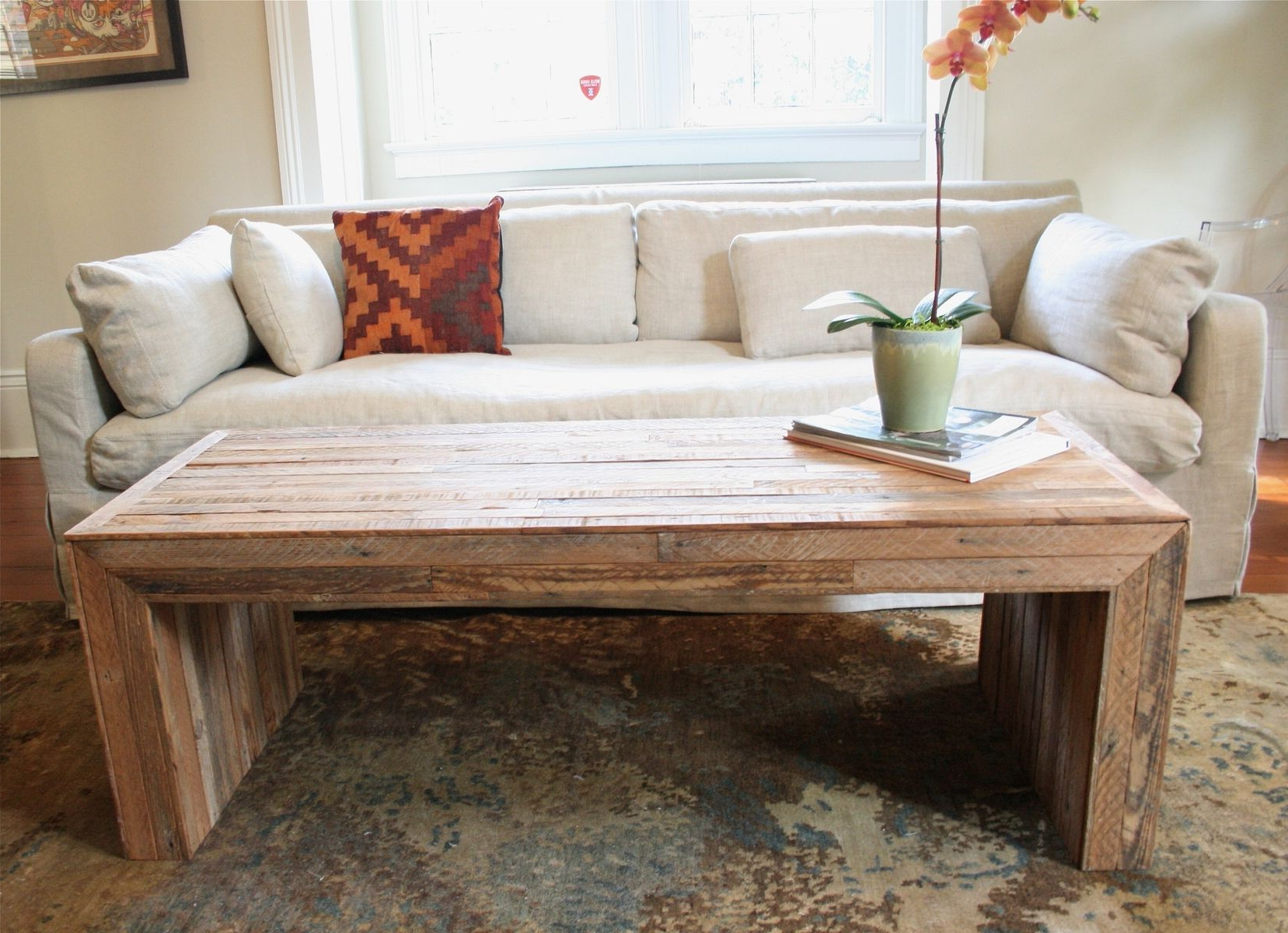 Hand Made The Jackson Table Modern Yet Rustic Coffee Table Made From In Favorite Modern Rustic Coffee Tables (Gallery 1 of 20)