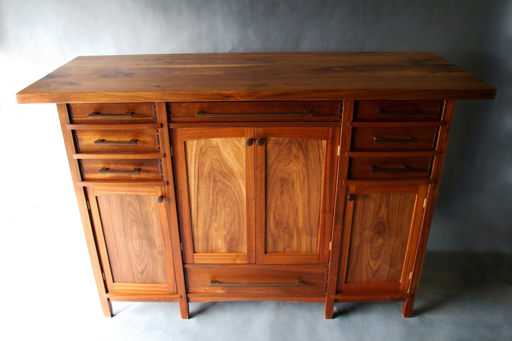 Handmade Walnut And Sapele Custom Sideboardbow River Craftsman For Most Current Craftsman Sideboards (Gallery 6 of 20)