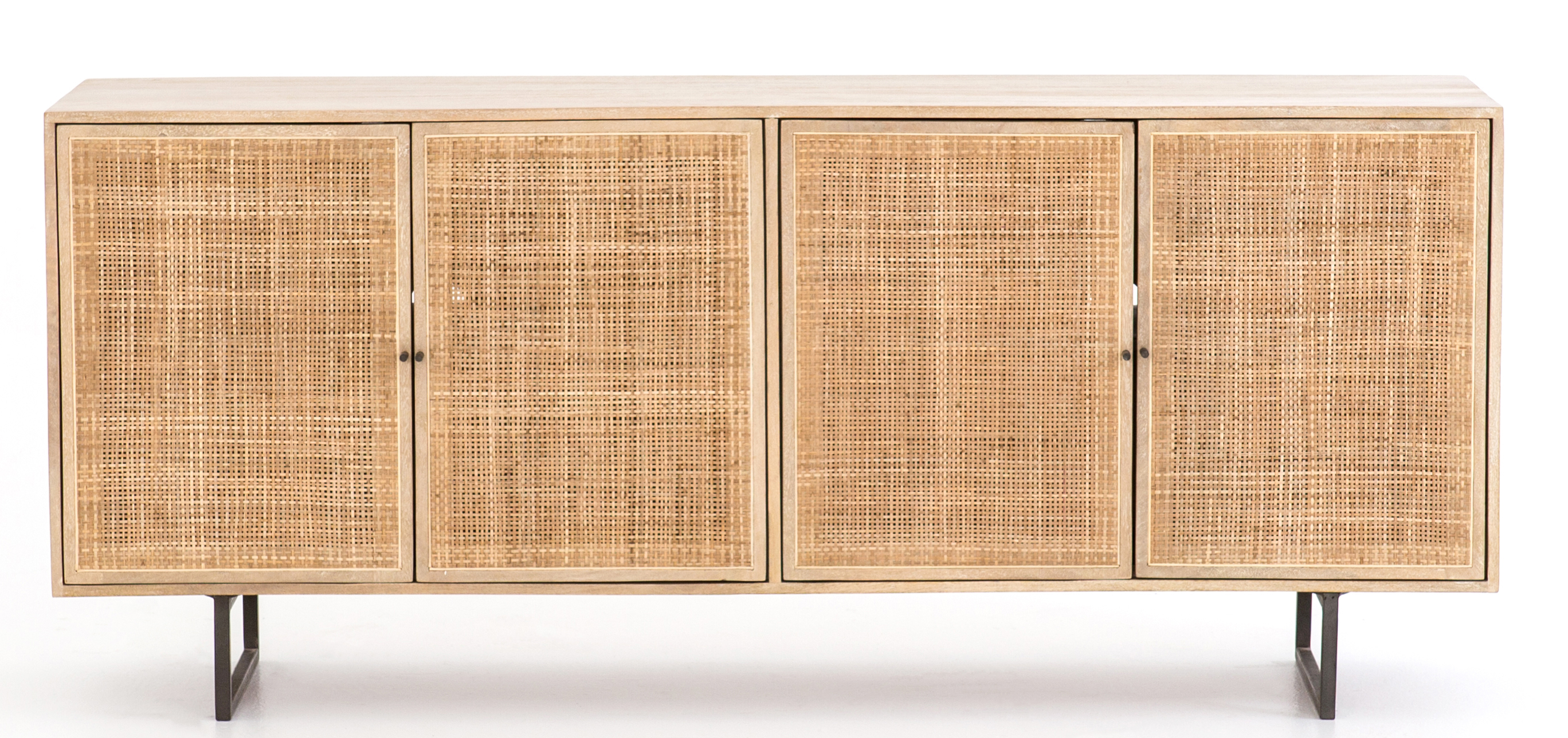 Hannah Sideboard, Natural With Favorite Square Brass 4 Door Sideboards (View 17 of 20)