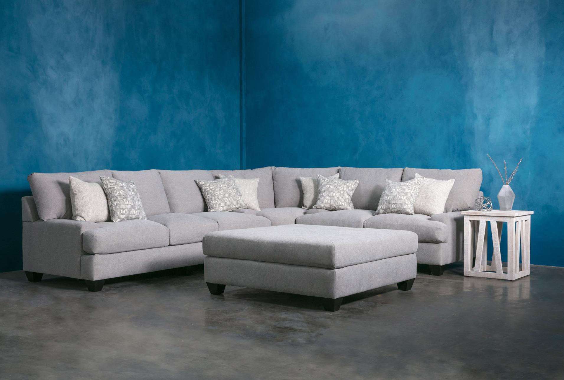 Harper Down 3 Piece Sectionals Pertaining To Well Known Harper Down Square Cocktail Ottoman (View 9 of 20)