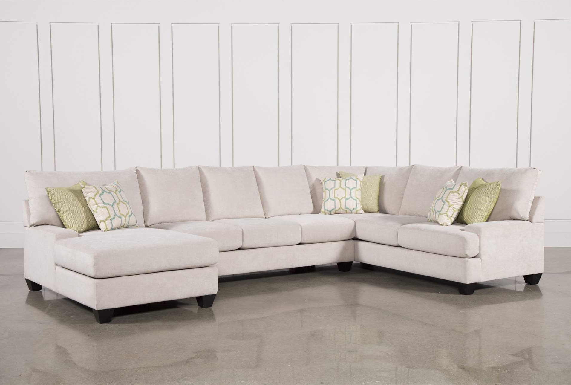 Harper Foam 3 Piece Sectional W/raf Chaise For Most Recently Released Meyer 3 Piece Sectionals With Laf Chaise (View 5 of 20)