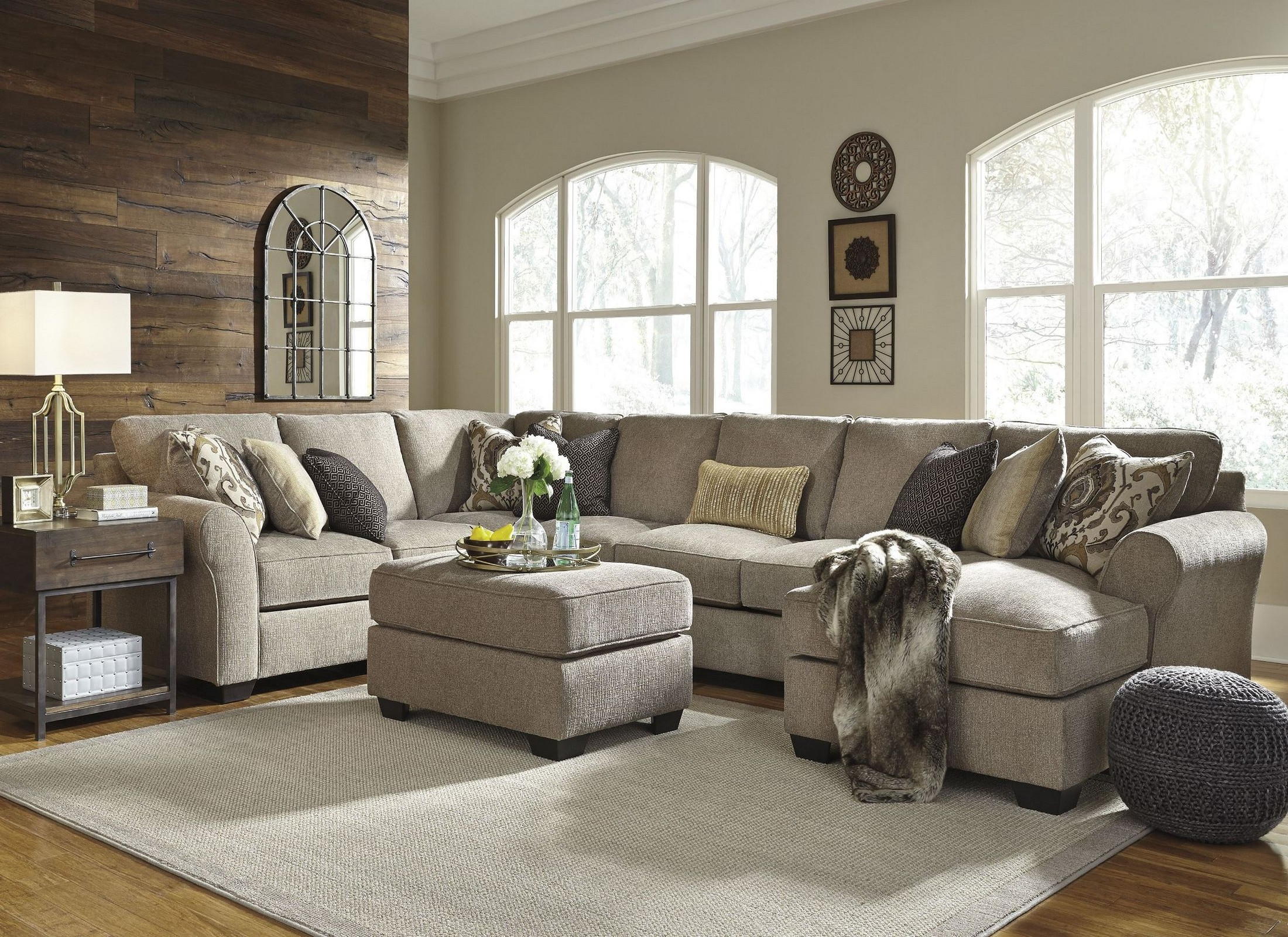 Harper Foam 3 Piece Sectionals With Raf Chaise Pertaining To Most Popular Pantomine Driftwood Laf Large Chaise Sectional From Ashley (View 9 of 20)
